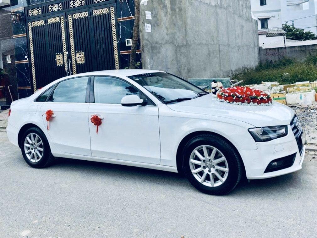 xe hoa Audi A4 trắng